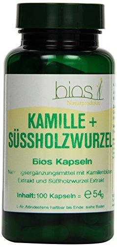 Bios Kamille und Süssholzwurzel, 100 Kapseln, 1er Pack (1 x 54 g)