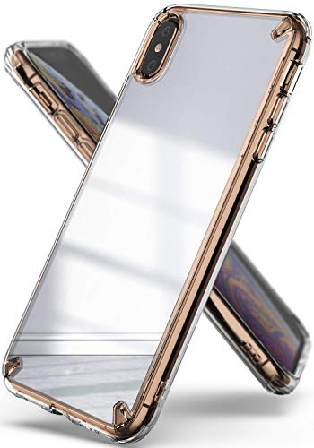Ringke Mirror Compatible iPhone Xs Max Case, Bright Reflection Radiant Luxury Mirror Bumper Qi Wireless Charging Compatible Stylish Protective Cover iPhone Xs Max 6.5 inch - Silver