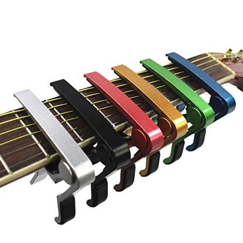 N/V Cejilla de guitarra acústica cambio rápido Tune Trigger Clamp Trigger violín Ukulele Capo Mandolina con una sola mano Tune Adjuster