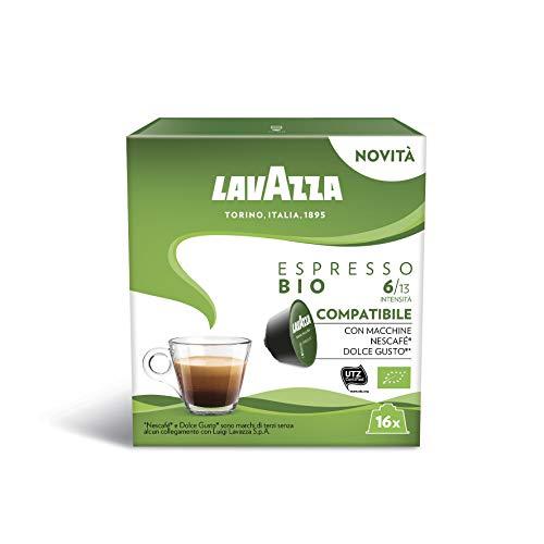 Lavazza Espresso Bio, 6 Confezioni da 16 Capsule (96) - Compatibili Nescafè Dolce Gusto