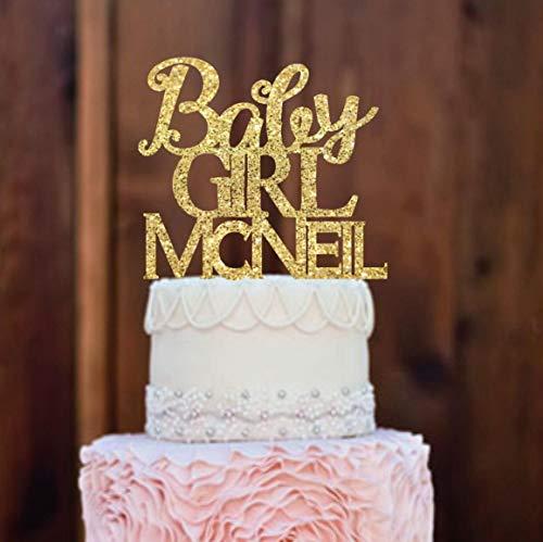 Decoración para tarta para baby shower, decoración para tarta de bebé – Decoración para tarta de bebé – dorado Baby Shower Ideas para Baby Shower – Decoración para tarta dorada