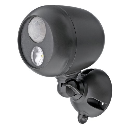 Mr Beams drahtloser, batteriebetriebener, heller LED Spot mit Bewegungssensor und Lichtsensor braun MB360