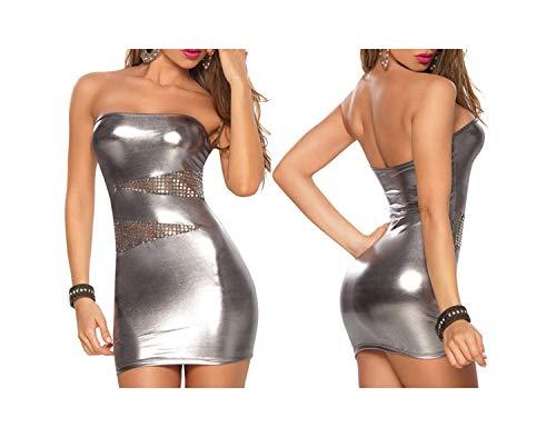 Aolosion Mujeres Porno Trajes de la Ropa Interior erótica Atractiva del Club Nocturno Mini Vestido + G…
