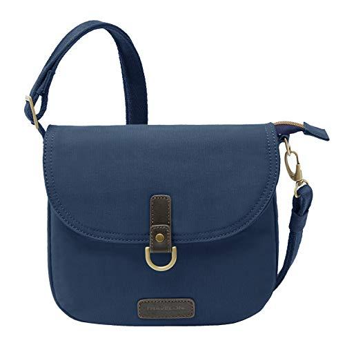 Travelon Damen-Umhängetasche mit Diebstahlschutz, navy (Blau) - 33419-350
