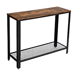 INDUSTRIAL ELEGANCE: Slightly rustic and stunningly simplistic, this eye-catching piece is a decorative accent to your home while being practical for use in all rooms ALWAYS IN FULL PLAY: Works great as a console table, sofa table, or entry table in ...