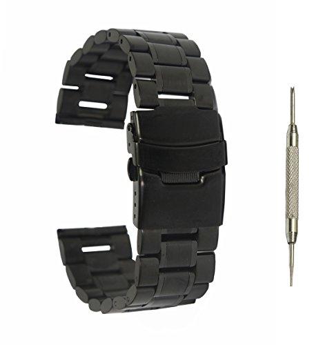 @ccessory 24mm Acciaio inossidabile Cinturino braccialetto + strumento per Sony SmartWatch 2 SW2