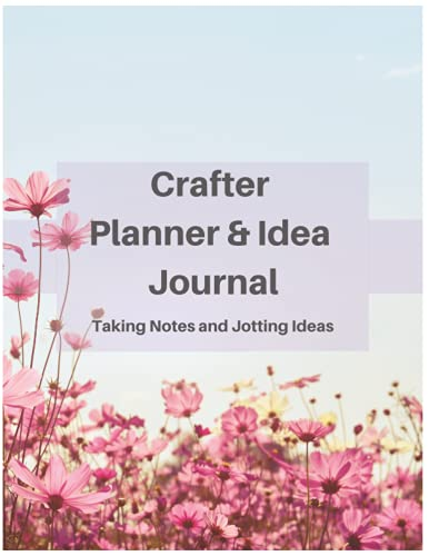 Crafter Planner & Idea Journal Taking Notes and Jotting Ideas: Giant Notebook ,Big Journal , Perfect for Essay Writing 100 Lined Page Notebook