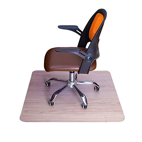 NingdeCK Stuhlmatte, Bürostuhlmatte, Bodenschutzmatte, rutschfeste Schutzmatte, praktisch, PVC, transparent, rutschfest, kratzfest, für Teppich unter Bürostuhl, harten Boden, Zuhause