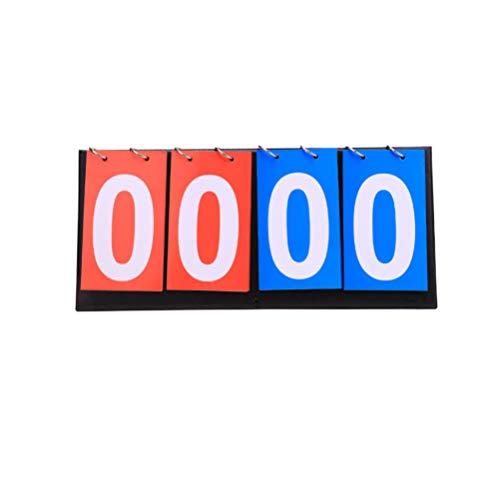 TOYANDONA Anzeiger Flipper Multi Score Keeper Portable Sport Volleyball Basketball Tennis Anzeigetafeln Score Flip Anzeigetafel für Desktop-Arbeitsplatte Tischplatte