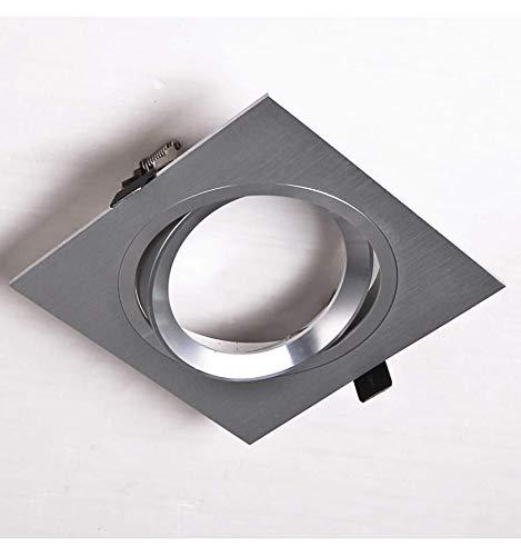 KOSILUM - Spot 1 ampoule encastrable en aluminium brossé - Maja - Lumière Blanc Chaud Eclairage Salon Chambre Cuisine Couloir - - - Non - IP20