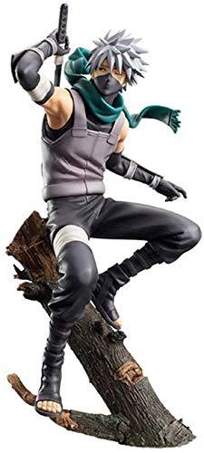 XMHL Naruto Hatake Kakashi Figura Estatua , Kakashi con máscara , 21cm (8.2 Pulgadas) , Colección de Regalos de cumpleaños para niños y Adultos Modelo de Juguete
