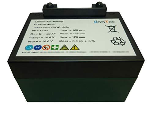 27-Loch - Golftrolley Golf Caddy Batterie Akku Lithium-Ionen 12 V - 22 Ah passend für Powacaddy Kiffe mit Ladegerät