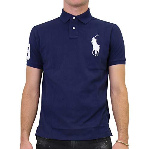 Ralph Lauren Herren Custom-Slim-Fit Poloshirt Dunkelblau L