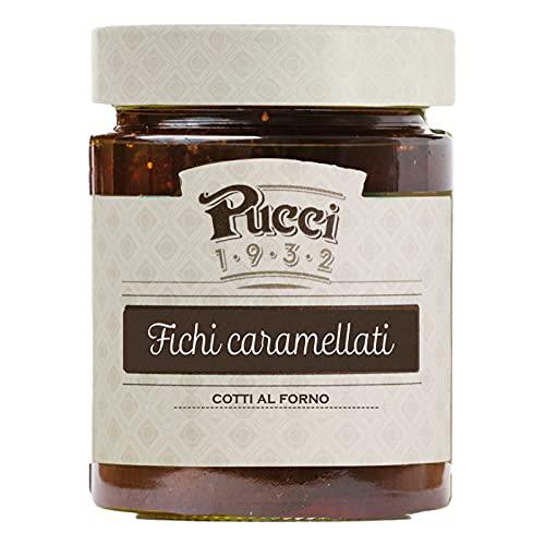 Pucci Fichi Caramellati Cotti al Forno Conserva Decorazione per Dessert e Aperitivi - Vasetto da 250g