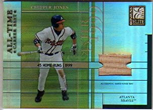 2003 Donruss Elite All-Time Career Best Materials #38 Chipper Jones Game-Used Bat Card Serial #'d/400