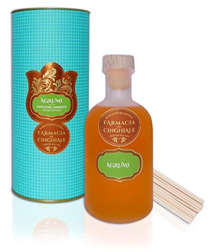 Difusor Ambiental Perfumista cítrico en Sticks Fragancia Fresca y cítrica de 200 ml