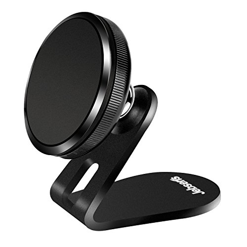 Magnetic Phone Car Mount, Jebsens Universal Magnetic Car Phone Holder Metal Dashboard Cell Phone Stand Compatible with All Smart Phones, Black