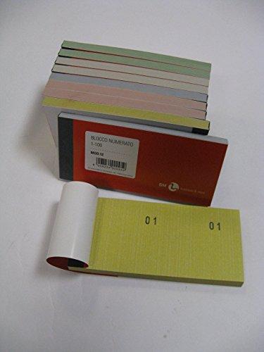 B & M Blöcke mit nummerierten Abschnitten von 1bis100, für Verlosungen, Lotterien, Feste etc., 10Stück