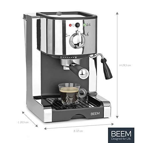 BEEM ESPRESSO-PERFECT | Espresso-Siebträgermaschine - 20 bar | BASIC SELECTION | Silber | Integrierte Milchschaumdüse