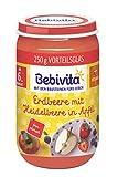 Bebivita Erdbeere mit Heidelbeere in Apfel, 6er Pack (6 x 250 g)