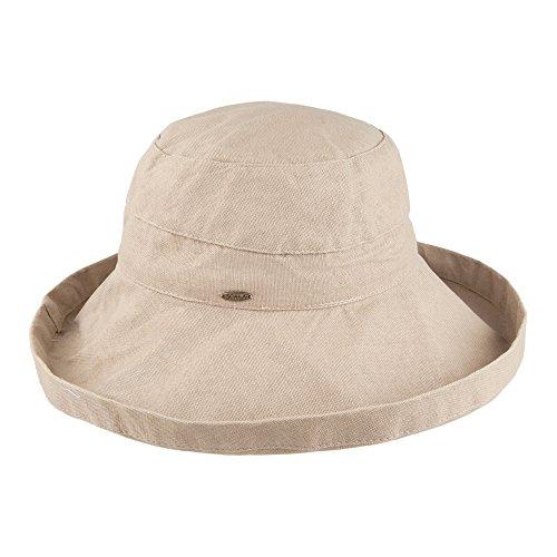 Village Hats Scala Packbarer Sonnenhut Lanikai Damen - Taupe - One Size