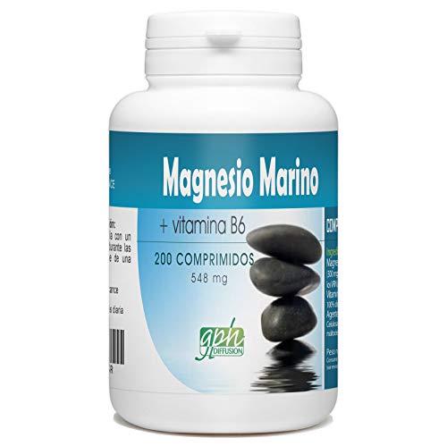 Magnesio marino y vitamina B6-548 mg al día - 200 comprimidos