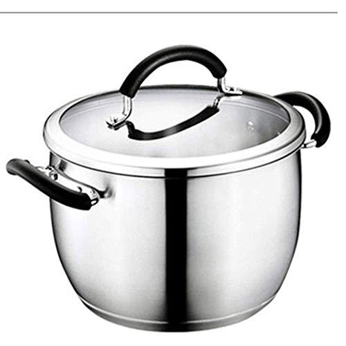 HZXLYG Semplice e Bella HzPDG Pot della minestra - Acciaio Inox Ispessimento delle Famiglie Porridge Pot della minestra Fornello a Gas Fornello Universale