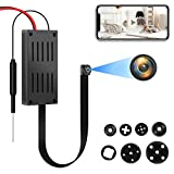 Spy Camera, 4K HD WiFi Hidden Camera, DIY Tiny Wireless Spy Cam, Mini Camera for Home Surveillance Security Cameras Recorder with Motion Detection for Indoor Outdoor(2.4GHZ Only)
