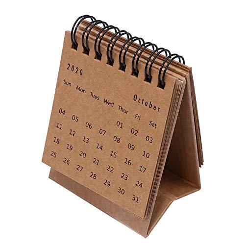 Oppal 2021 Inglés Mini Calendario de Péndulos Frescos y Portátiles de Escritorio, Decoración y Colgantes para el Día de Pascua (E)