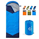 oaskys Camping Sleeping Bag - 3 Season Warm & Cool Weather - Summer, Spring, Fall, Lightweight, Waterproof for...