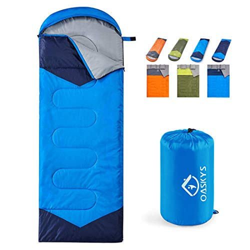 top rated Oaskys Camping Sleeping Bag – 3 seasons, warm and cool weather – summer, spring, autumn, light,… 2020