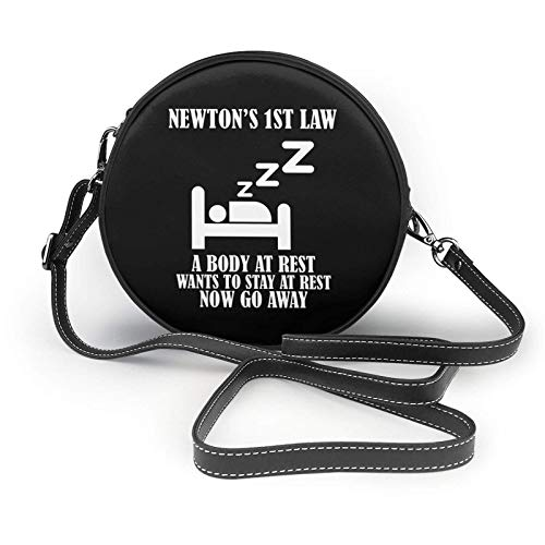 Newton's 1st Law Body at Rest Now Go Away Shoulder Leather Bag, Small Shoulder Bag,Ultralight Purse, Washable Crossbody Purse, for Women