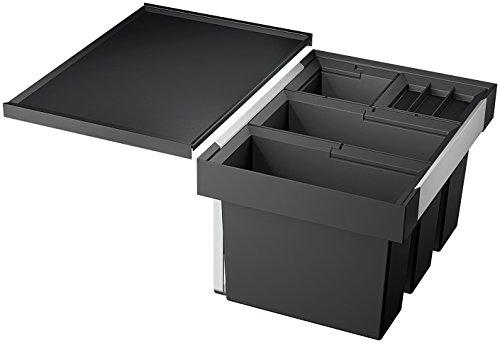 Blanco Flexon II 60/4, Abfallsystem für die Mülltrennung in der Küche, mit 4 Abfalleimern (2 x 15 l / 2 x 6 l), zur Montage in der Schublade eines 60 cm-Unterschranks; 521474