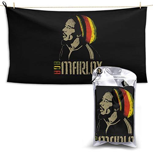 N / A Bob Marley - Toalla de secado rápido (1 toalla de baño ligera y de secado rápido)