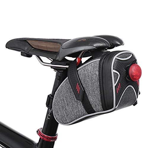 Práctica bolsa de bicicleta 3D Shell impermeable para sillín de bicicleta, bolsa reflectante para el parachoques y la tija del sillín de bicicleta de montaña accesorios Mobile (color: gris claro)