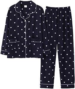 GZSC Lindo Rosado Blanco Ropa de Dormir con Traje Suave Pijamas Pijamas Algodón Dos Piezas Conjuntos de Ropa de Noche Regalo Femenino Ropa Interior Homewear Pijamas (Color : 6, Size : 1M)