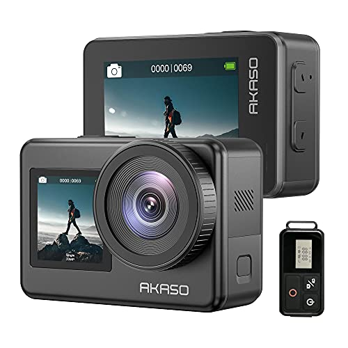 AKASO Brave 7 4K30FPS 20MP WiFi Action Camera with Touch Screen IPX8 33FT Waterproof Camera EIS 2.0 Zoom Support...
