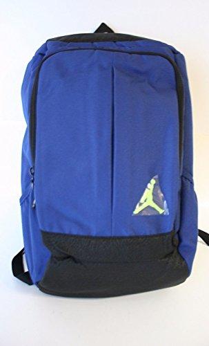 Nike Air Jordan Jumpman School Backpack Book Bag College Kids Boys, Insignia Blue/Black/Volt Yellow