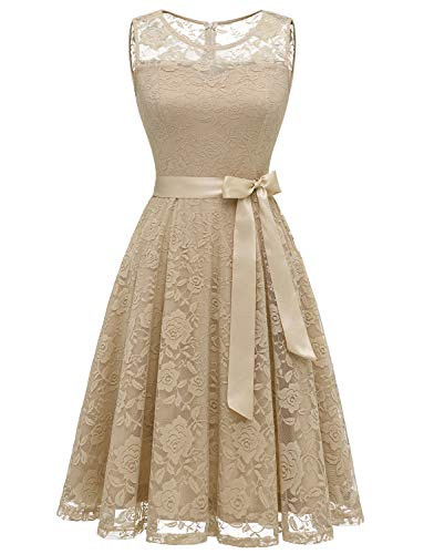white and gold lace detail dress - 7
