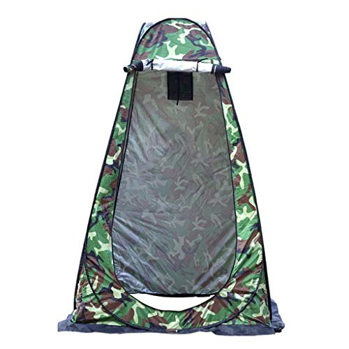 TTlove Camping Toilet Tent Pop Up Shower Privacy Tent for Outdoor Changing Dressing Fishing Bathing Storage Room Tents, Portable with Carrying Bag(C#Multicolor,120X120X190CM)