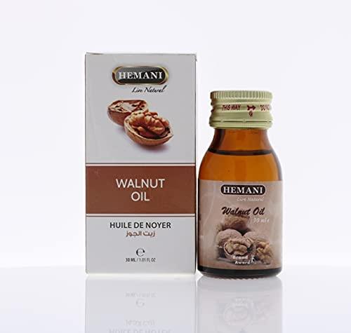 100% puro y natural ingredientes extractos esenciales de aceite de nuez Hemani 30ml vegano natural y libre de crueldad cosechado éticamente