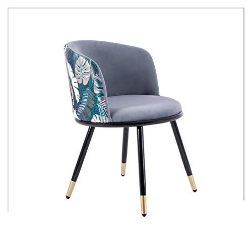 North cool Velvet Dining Chair, Mordens Küche Dining Chair, Couchtisch Stühle, Zähler Lounge Wohnzimmer Stuhl mit Armlehnen und Rückenlehne, Stühle for Eitelkeiten und Vanity Bänke (Color : Grey)