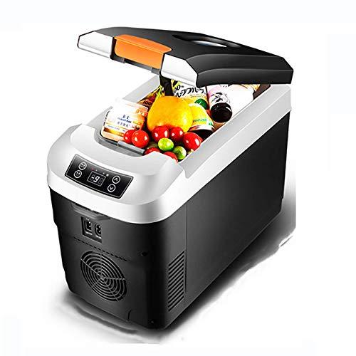 CCJW Congelador eléctrico portátil Nevera portátil, 12L Mini refrigerador del refrigerador más Caliente, AC o DC, 12V24V220V, Viajes RV refrigerador for el hogar y Camping kshu