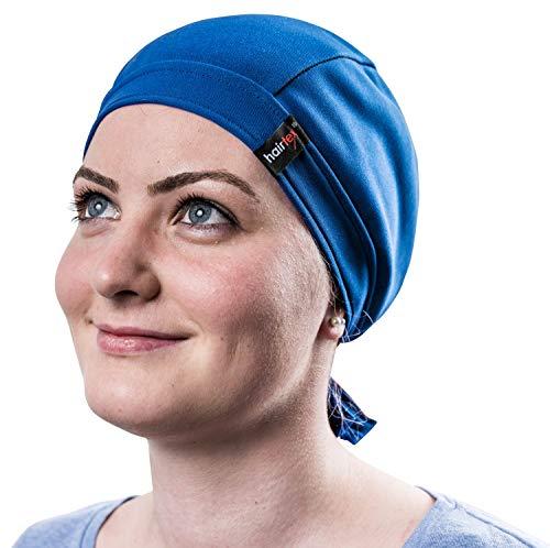 Stall-Mütze mit Bändern | schützt zuverlässig vor Stallgeruch | für jede Frisur und Haarlänge geeignet (popblau, M)