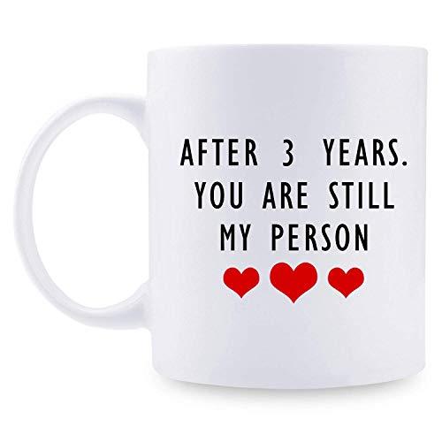 N\A Regalos de Tercer Aniversario - Regalos de Tercer Aniversario de Boda para Pareja, 3 años Taza de café Divertida de 11 oz para Parejas, Esposo, Esposo, Esposa, Esposa, Ella,