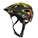 O'NEAL | Casco para Bicicleta de montaña | All-Mountain | Rejillas de ventilación, Norma de Seguridad EN1078 | Casco Defender Villain | Adultos | Naranja Neón-Amarillo | Talla L/XL
