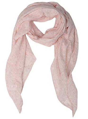 Zwillingsherz - Foulard di seta da donna con motivo floreale, made in Italy, elegante sciarpa estiva per donne, di alta qualità, stola in chiffon con motivo elegante Colore: rosa. Taglia unica