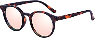 Kelens Vintage Retro Horn Rimmed Round Circle Sunglasses UV400 Protection