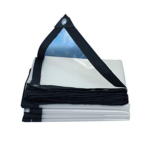 PENGFEI Transparent Bâche De Protection Imperméable Joint De Fenêtre Clôture De Balcon Anti-UV, Epaisseur 0.12MM, Plusieurs Tailles (Couleur : Clair, taille : 3x4m)