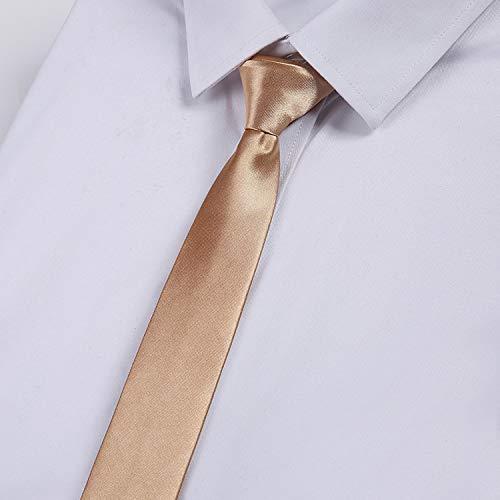 LBBJJ Heren Tie Business Tie_Pure Kleur Tie Mannen Business Monochrome Tie Bruiloft Huwelijk Groep, Champagne heeft: stropdas, mode stropdas, eenvoudige stropdas, vintage klassieke stropdas, mannen stropdas.